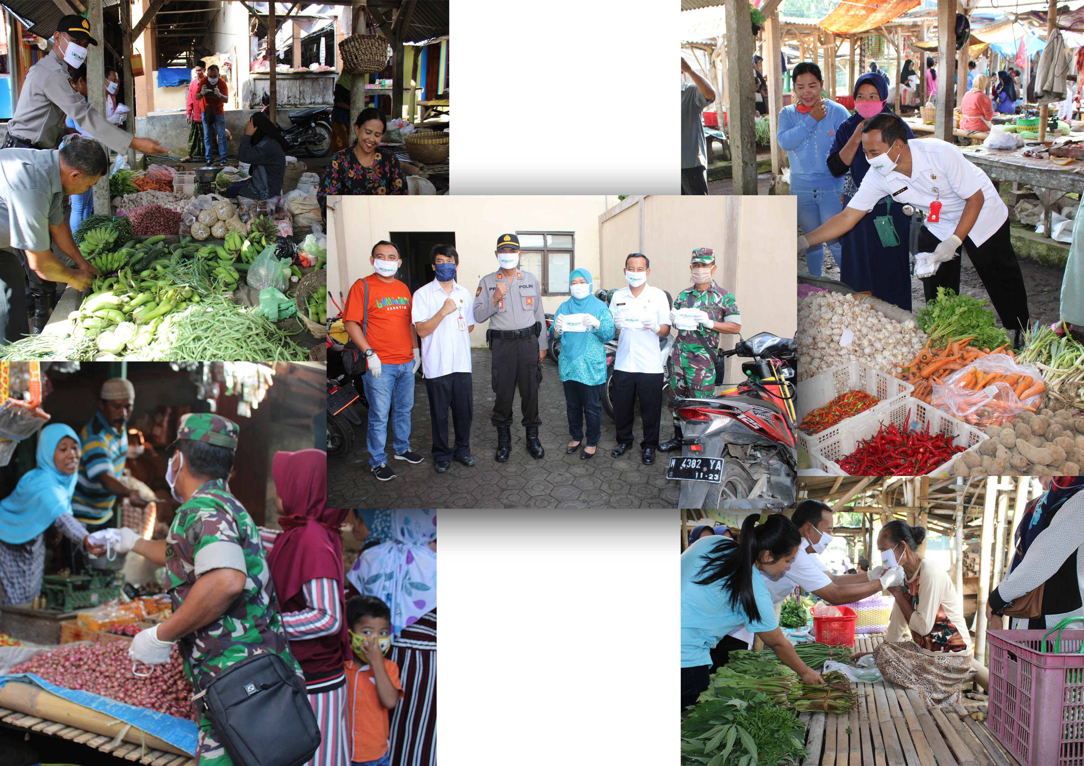 Antisipasi corona FORKOPIMCA beserta anggota bagi-bagi  masker gratis